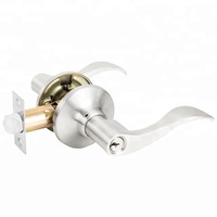 Brushed Nickle Security Key keyed Entry Door Lock And Lever Door Handle For Entrance