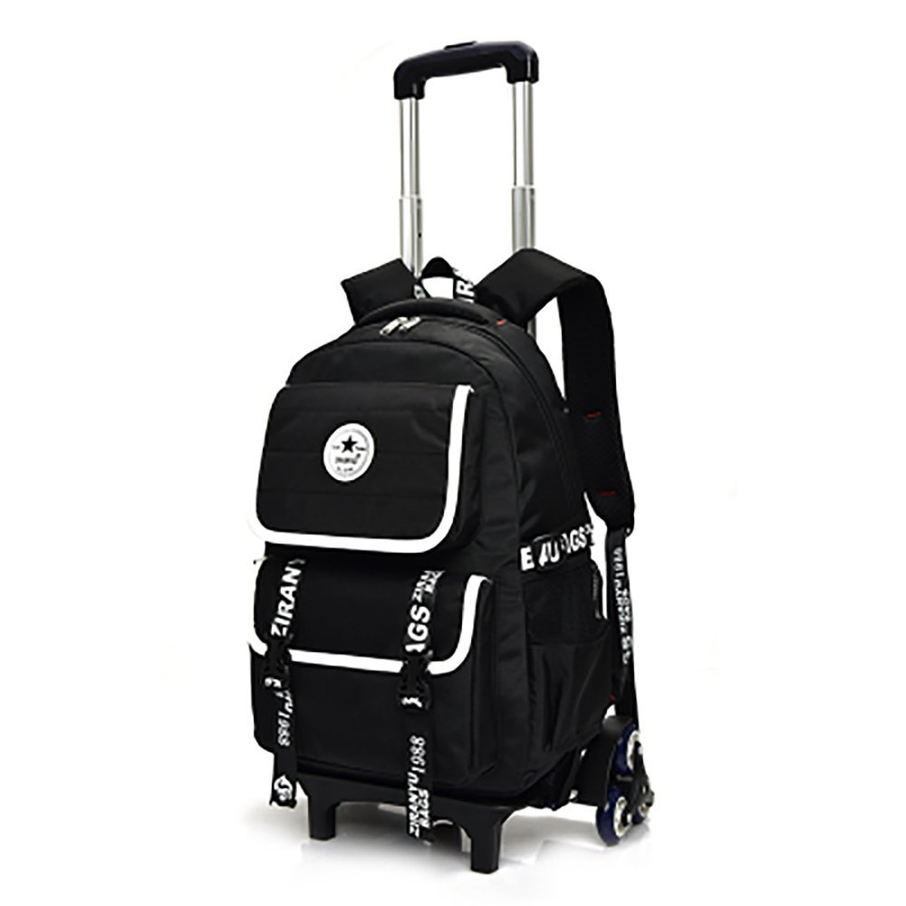 e9dcd20156 Get Quotations · HIGOGOGO Fashion Vertical Buckle Rolling Backpack