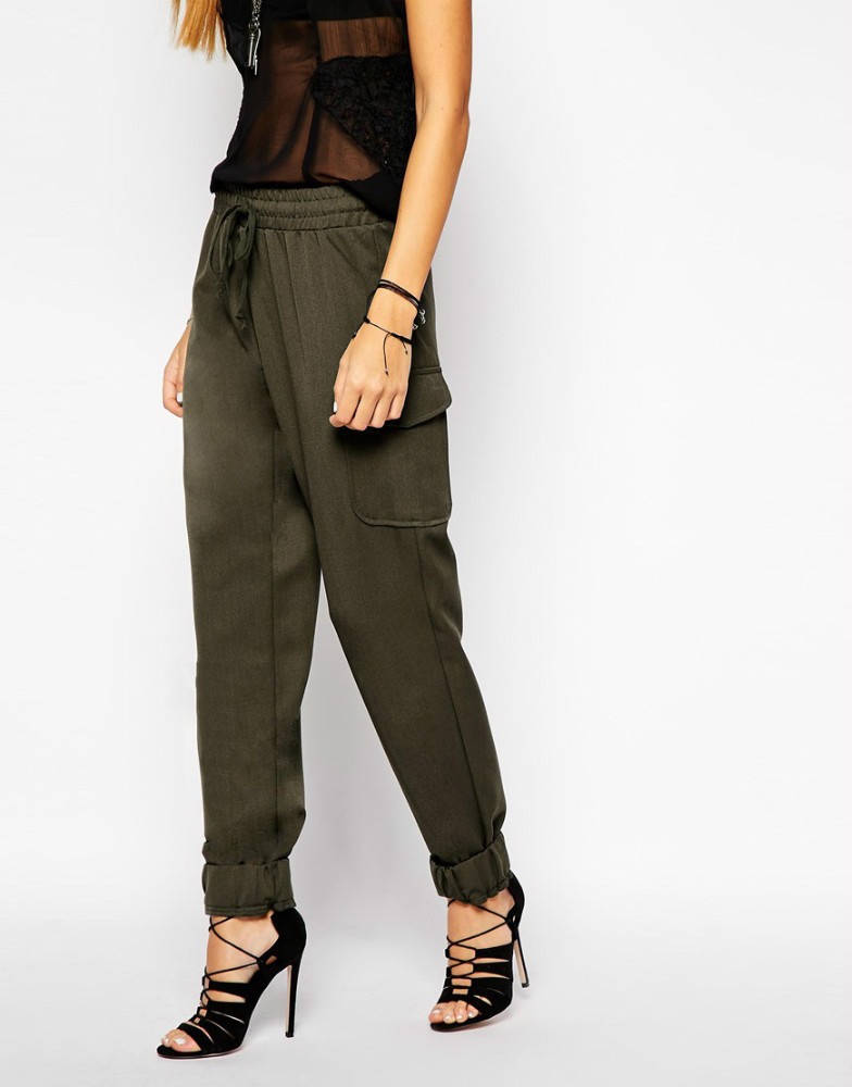 2015 New Women Ladies Khaki Petite Cargo Trouser Pants Glamorous ...