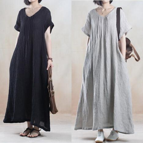 robes l gantes robe d 39 ete longue en lin. Black Bedroom Furniture Sets. Home Design Ideas