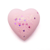 private label organic pink heart shape bath bomb