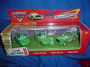 Disney / Pixar CARS Movie 1:55 Die Cast Cars 3-Car Gift Pack Chick Fan Mia, Chick Fan Tia and Chick Hicks