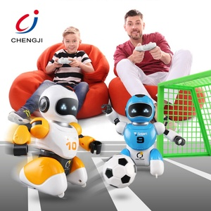 Newest items electric intelligent rc toy mini interactive soccer robot for children