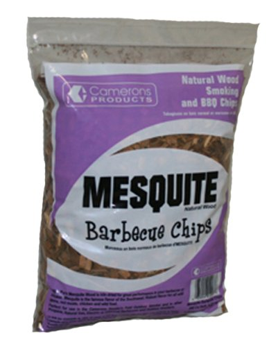 Mesquite Wood Smoker Chips (2 Pounds Coarse) - 100 Percent All Natural, Coarse Wood Smoking and Barbecue Chips