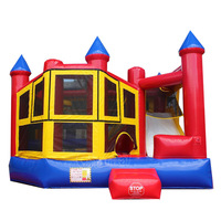 channal inflatable moonwalk combo bouncer slide for sale
