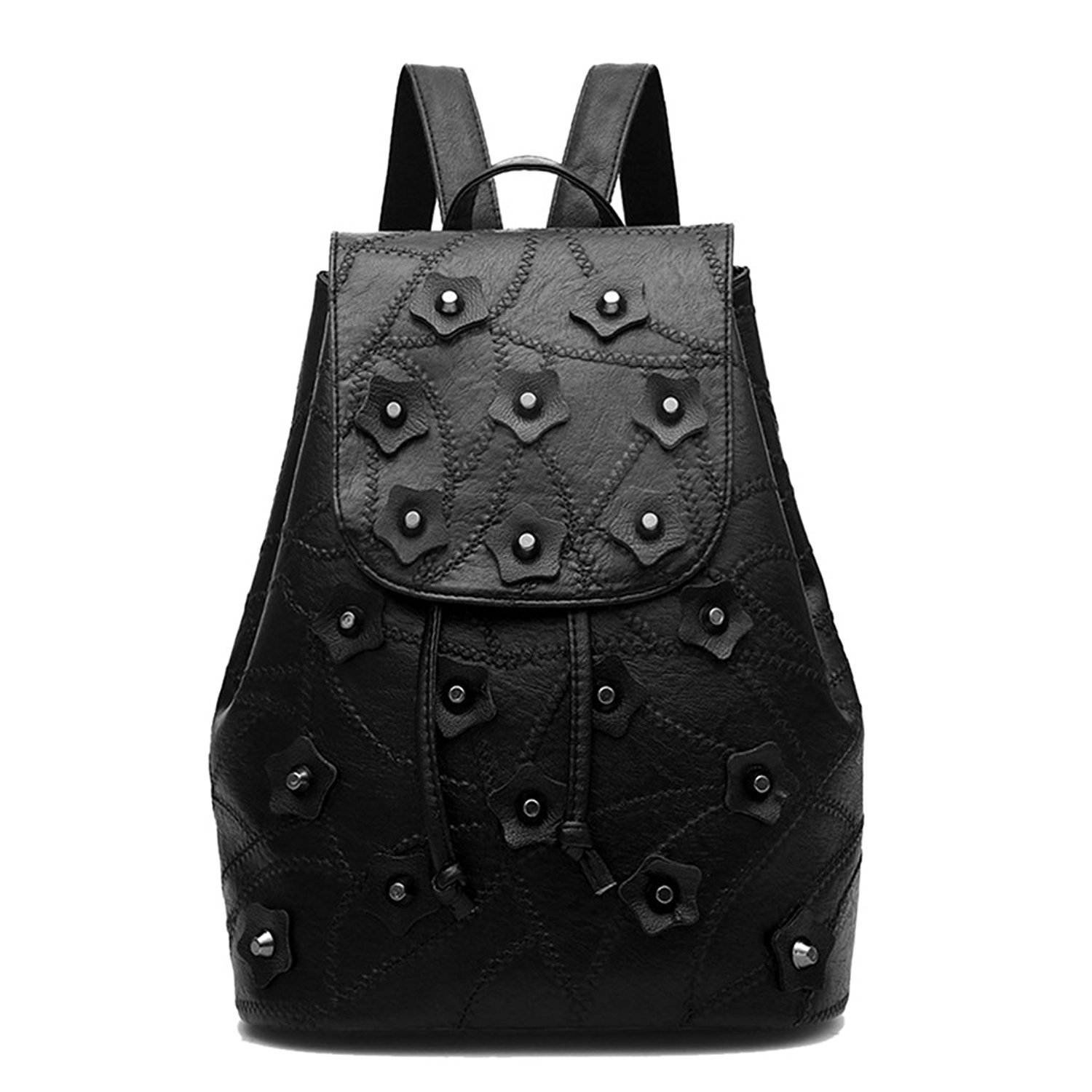 a4564e0eea Get Quotations · Women Backpack - Bageek Cool Backpack PU Leather Backpack  Purse Floral Rivet Designer Backpack