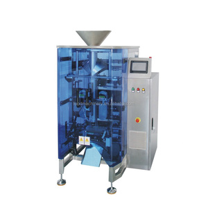 Double servo motor onion packing machine oil nuts packaging machinery with date printing