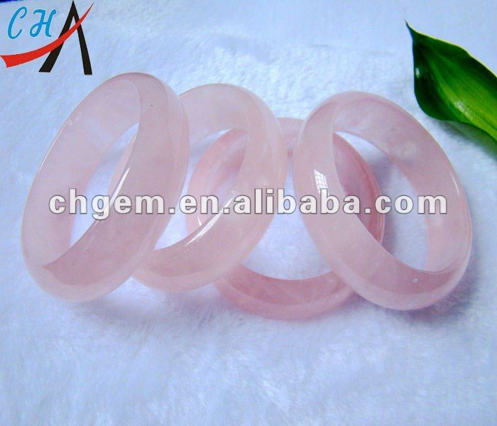 natural gemstone rose quartz bangle