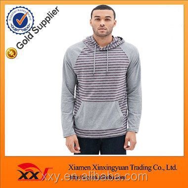 Men's Popular Heathered Tribal Print fleece hoodie