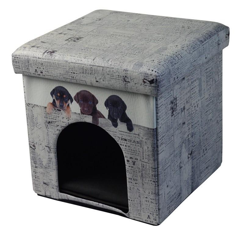Almacenamiento Plegable Mascota Cubo Otomana Cama Sueño Área ...