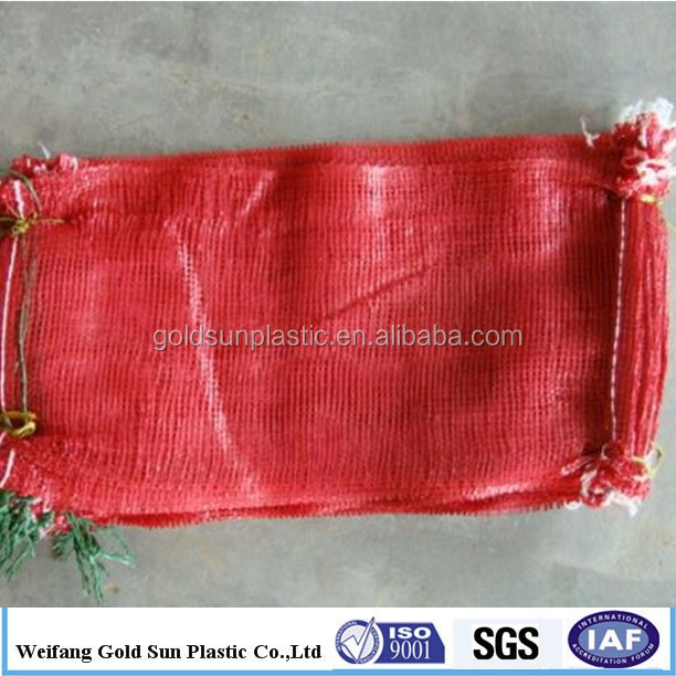 China Factory Whole Uv Mesh Firewood Bags 100 Pe Raschel Bag For Onions Potatos Other Vegetables Nylon