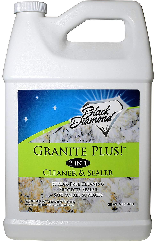 GRANITE PLUS! 2 in 1 Cleaner & Sealer for Granite, Marble, Travertine, Limestone, Ready to Use! 1-Gallon Refill.