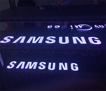 diy perfect color Samsung logo sign smd3528 led channel letter