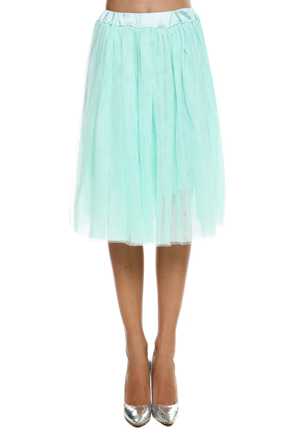 New Women Fashion Princess Fairy Style 2 layers Tulle Dress Bouffant Skirt 5 Colors