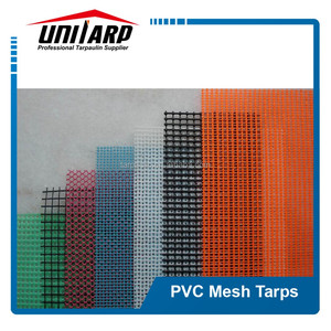 PVC coating 100% polyester knitted color mesh fabric