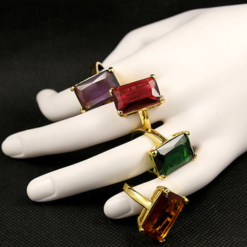 Latest Finger Ring Designs Fashion Brass Jewelry Luxury