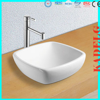 Countertop Sink Without Faucet Hole Vanity Ceramic Square Shape Bathroom Wash Basin Buy