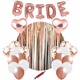 2018 New Bride To Be Party Supplies Rose Gold Bridal Shower Balloon Bachelorette Party Decorations Set