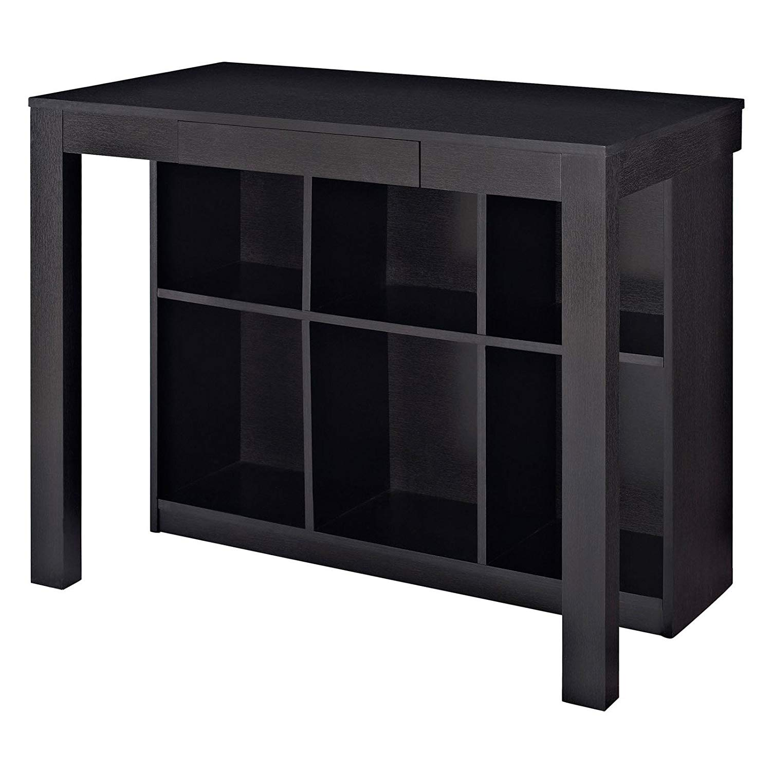 Home Desk Cubbies, Black, 6 Storage Cubbies Under Desk Store Books & Office Supplies, Pull-Out Storage Drawer, Assembly Required, Place it in The Living Room, Dining Room, Bedroom Home Office