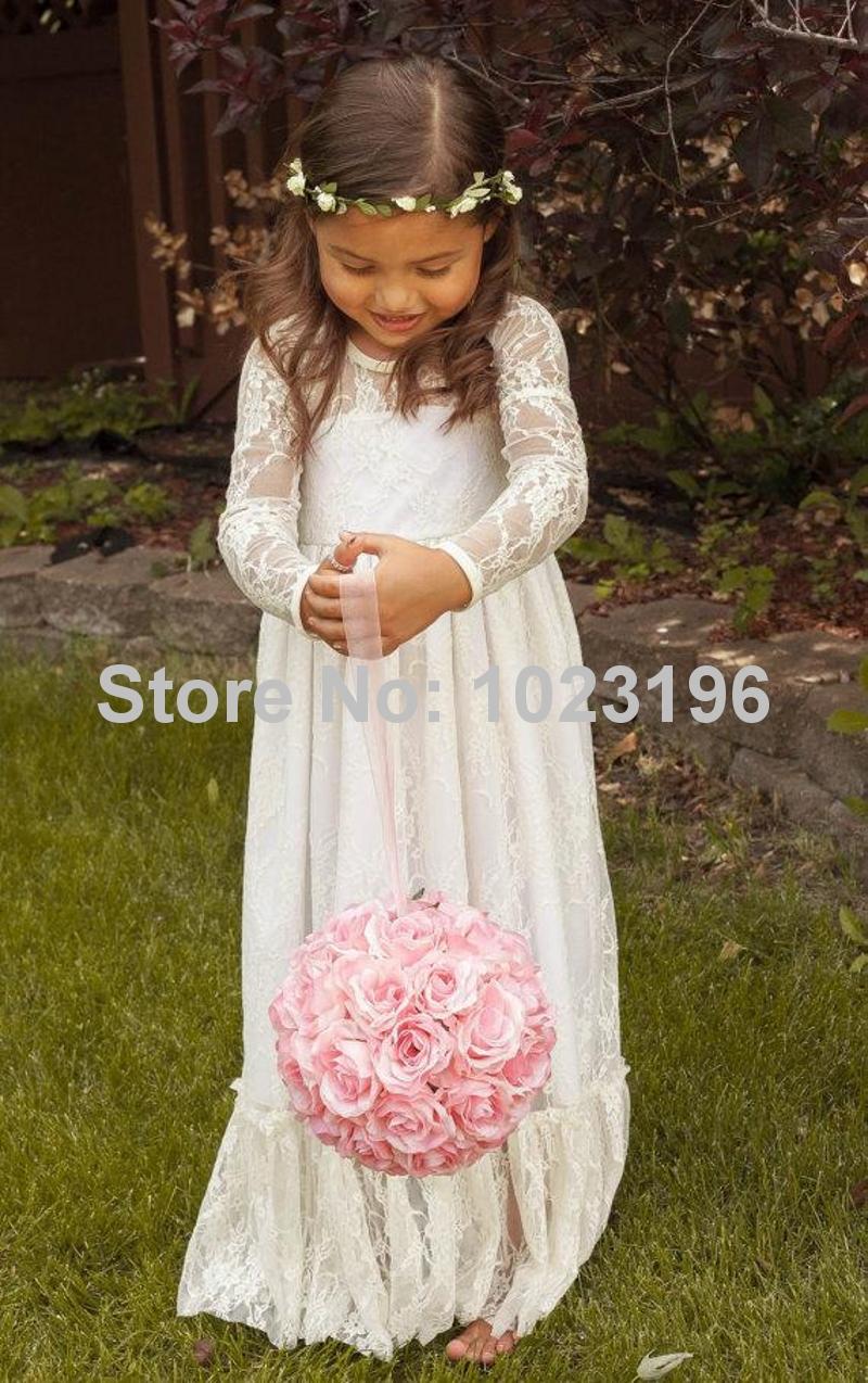Vintage little girls white dress