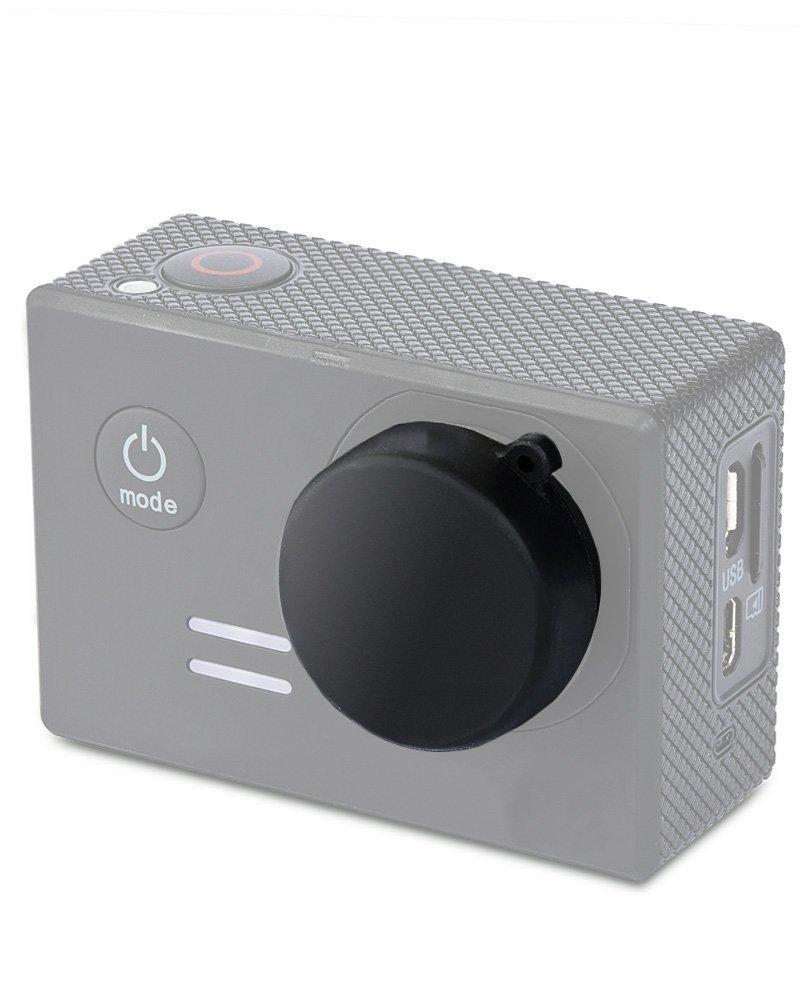 Fosmon Silicone Lens Cap for GoPro HERO3 / HERO3+ / HERO4 Black / HERO4 Silver / Xiaomi Yi (Black)