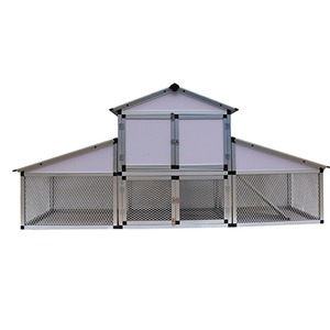 Outdoor aluminum large chicken house and chicken coop for sale
