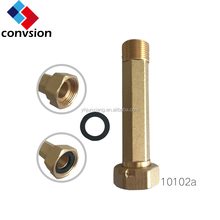 CE Approved Full Bore Polishing CW617n Material Coupling Pipe Brass Connector for Water Meter