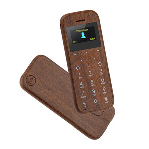 Wholesale Mobile Phone SOYES M11 0.96 Inch Screen Wooden Style Mini Card SOS Button Elderly Cell Phone