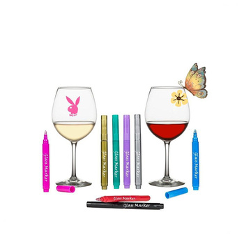 Promotion for Wine Wet Erase Temporary Metallic marker pen
