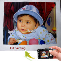 Handmade custom-made oil painting portrait from photo
