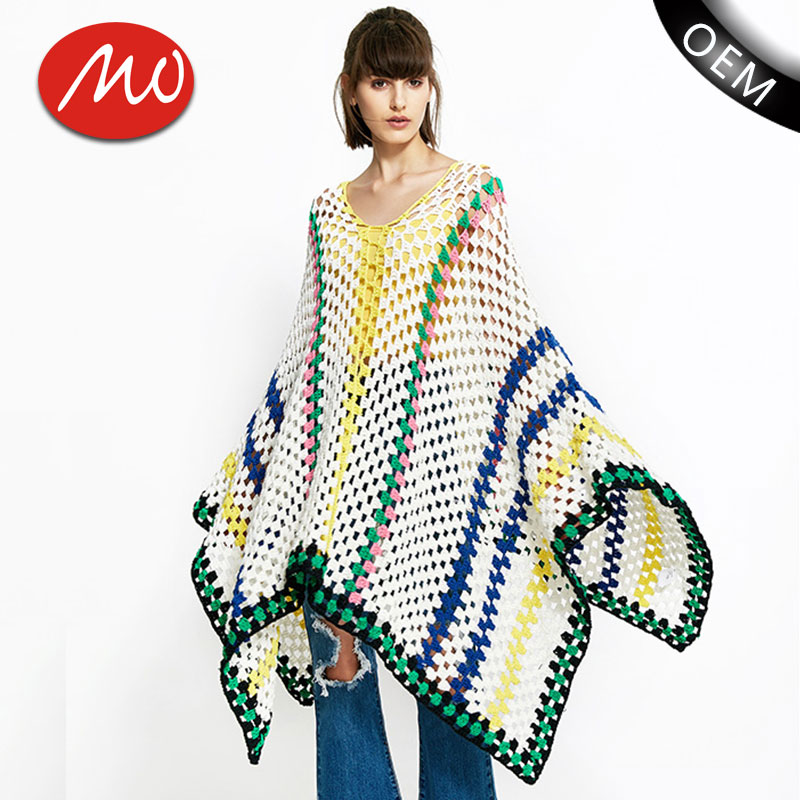 Dorable Carenado Patrón Poncho Crochet Foto - Ideas de Patrones de ...
