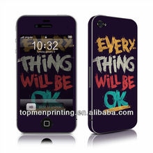Every Thing Will Be OK matte skin for iphone 4 full body full body skins for iphone 4