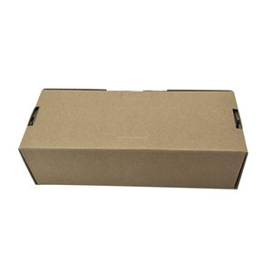Clear hot sale no logo print corrugated brown craft paper box