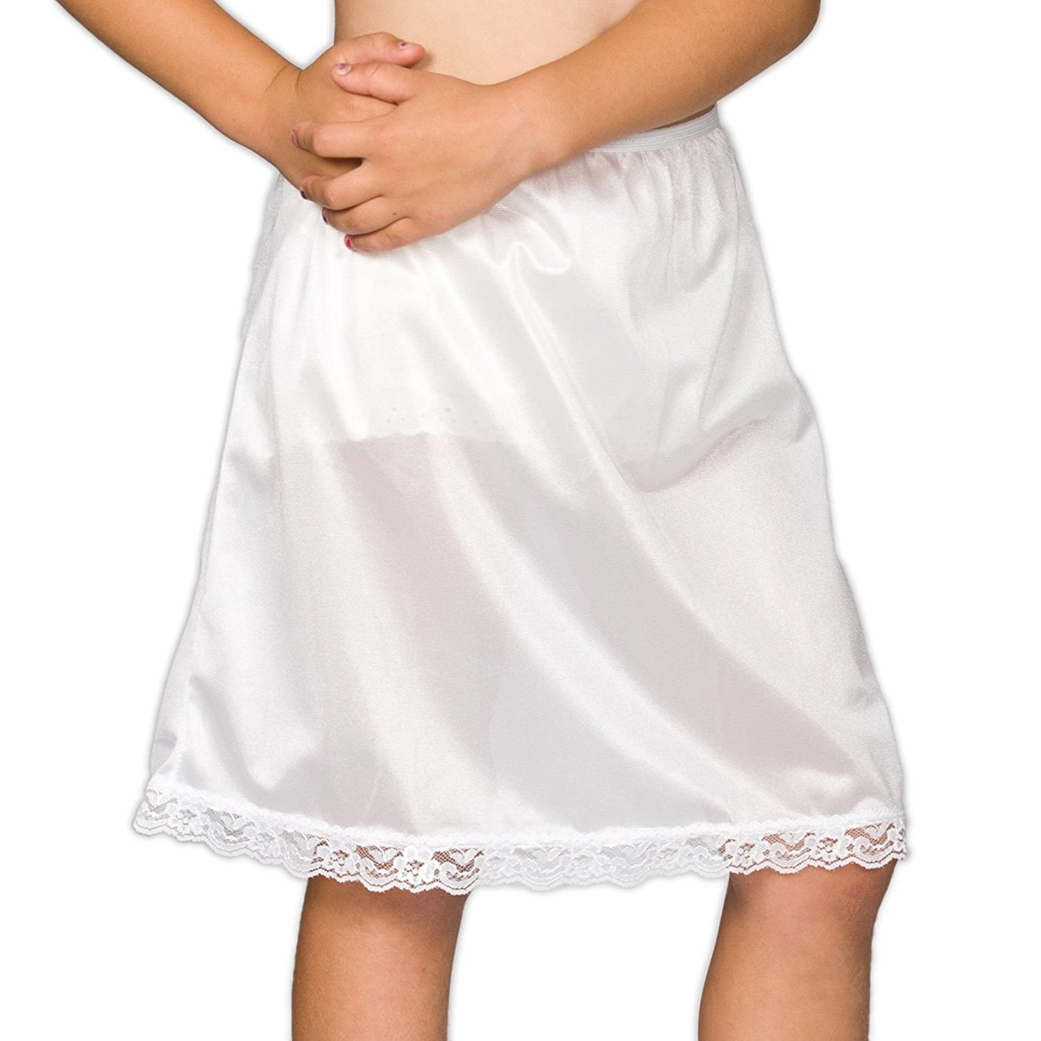 I.C 6X 2T Collections Little Girls White Embellished A-Line Slip