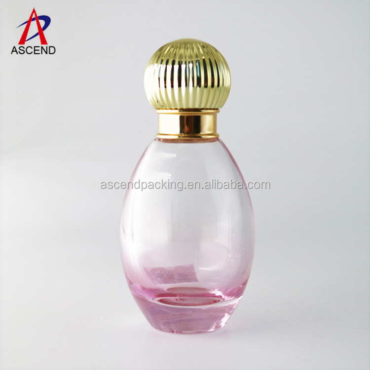 35ml element perfume oval bottle empty printing for women luxury lure french empty designer perfume bottle spray packaging