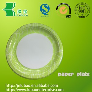 Made in china custom printed round/rectangle shape paper plate