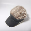 Wholesale Golf Hat With Fake Hair Funny Cheap Price Black Baseball Cap Visor Hats