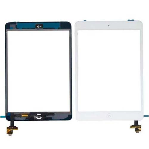 Apple iPad Mini Retina White Touch Screen Glass Digitizer A1489 A1490 A1491 with IC Connector