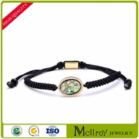 2017 New Style Cheap Wholesale Colourful Woven Silk Thread Bangles
