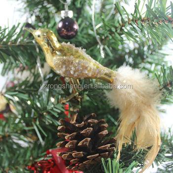 wholesale hand blown glass bird christmas ornaments - Bird Christmas Ornaments