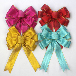 Big christmas curly gift packing ribbon bow