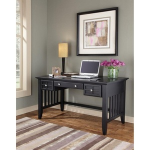 Factory sale cheap arts & crafts poplar solids black executive desk modern