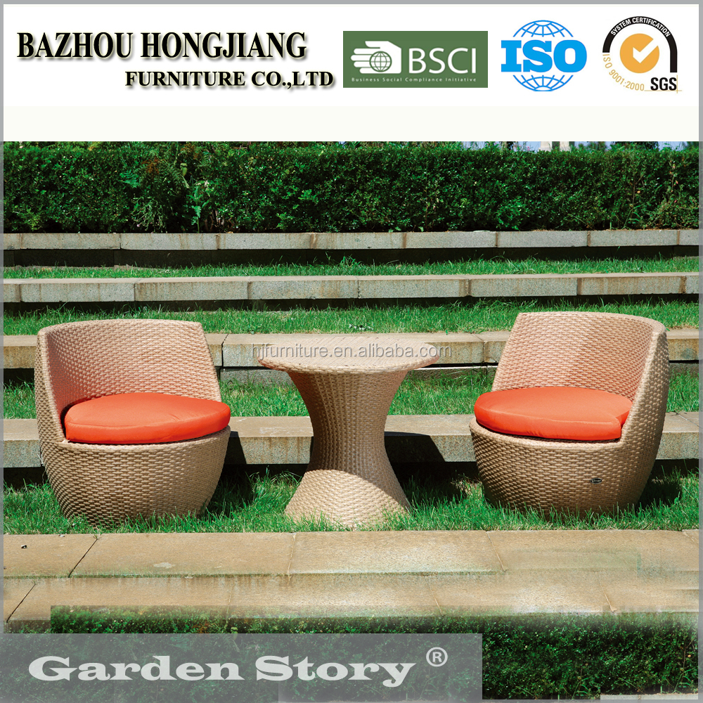 15-D-79 All-weather rattan sectional sofa and table garden outdoor furniture