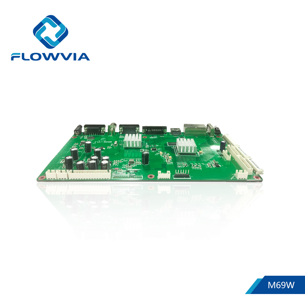 Flowvia M69W 50 핀 RJ45 loop through TFT HDMI DVI VGA CVBS USB 풀 LCD 스 플라이 싱에 LCD Panel controller Driver 보드