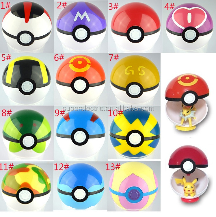 13 kinds of pokeball toy with pokemon figure inside