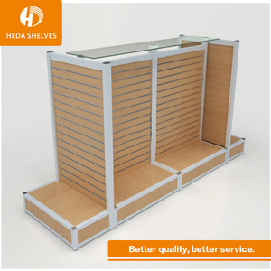 Factory Direct Sale Showroom Wooden Mobile Phone Display Shelf For Shop Fitting