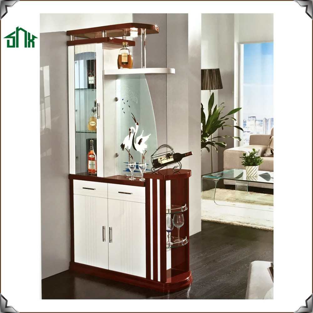 Home Decorative Room Divider Designs S970 Wooden Living Cabinet