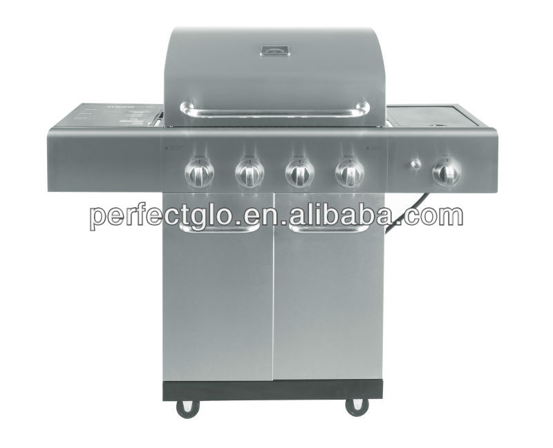 4 Burner Gas Stove, Gas Grill Stainless Steel Burner with Griddle( PG-40409S0L)