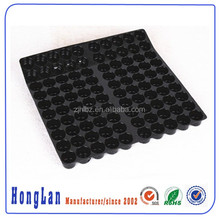 Customized black blister plastic tray candy/chocalate/meat/vegetable/fruit packaging