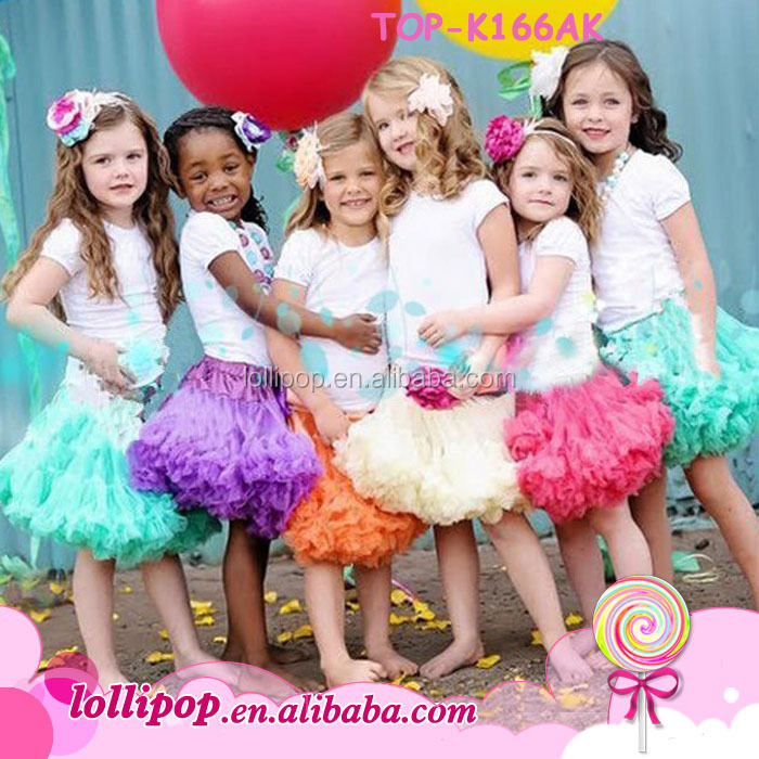 High quality baby girls fluffy pettiskirts kids tutu skirts children short pettiskirts